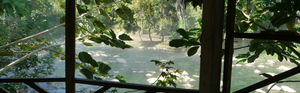 view of thermal river –bath house?